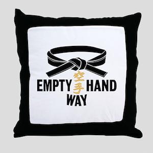 Black Belt Empty Hand Way Throw Pillow