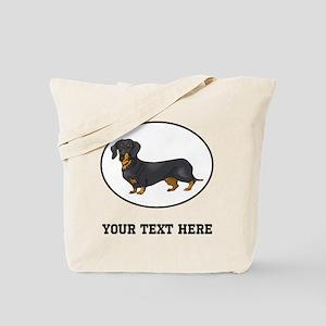 Custom Dachshund Tote Bag