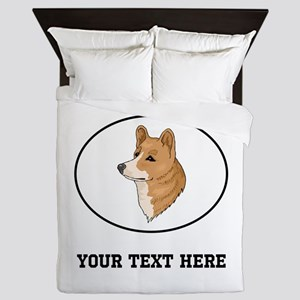 Custom Pembroke Welsh Corgi Queen Duvet