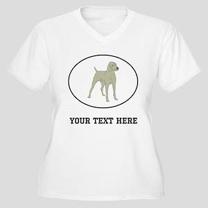 Custom Weimaraner Plus Size T-Shirt