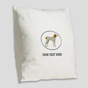 Custom Brittany Burlap Throw Pillow