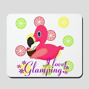 Glamping Flamingo Mousepad