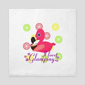 Glamping Flamingo Queen Duvet