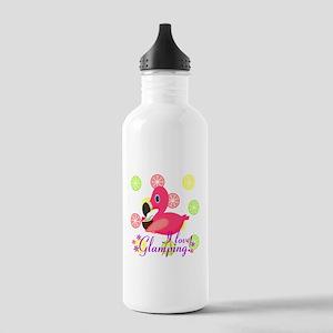 Glamping Flamingo Water Bottle