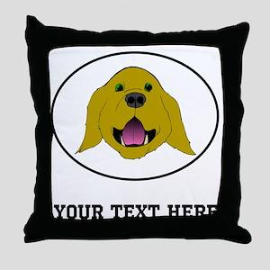 Custom Golden Retriever Throw Pillow