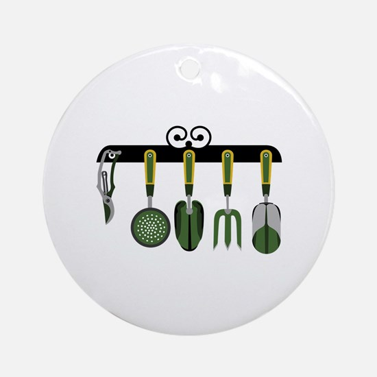Gardening tools Ornament (Round)