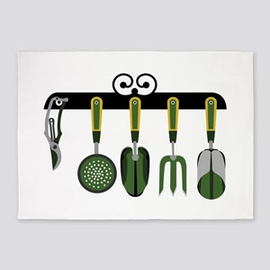 Gardening tools 5'x7'Area Rug