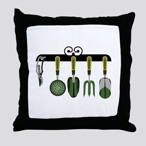 Gardening tools Throw Pillow