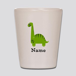 Green Dinosaur (p) Shot Glass