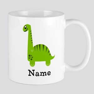 Green Dinosaur (p) Mugs