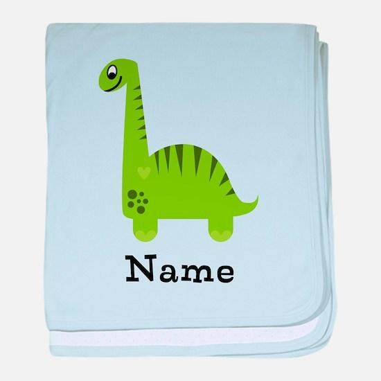 Green Dinosaur (p) baby blanket