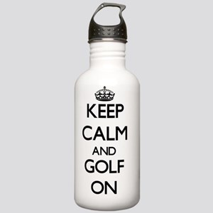 Keep Calm and Golf ON Stainless Water Bottle 1.0L