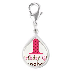 Personalizable First Birthday Pink Brown Charms