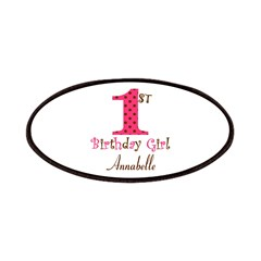 Personalizable First Birthday Pink Brown Patch