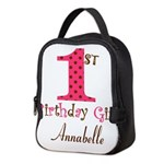 Personalizable First Birthday Pink Brown Neoprene