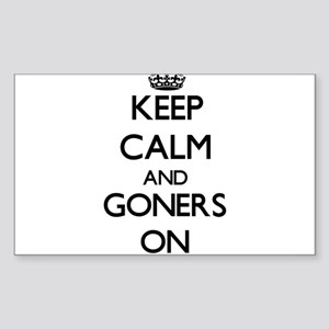 Keep Calm and Goners ON Sticker
