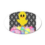Easter Chick on Damask Wall Decal