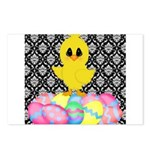 Easter Chick on Damask Postcards (Package of 8)