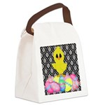 Easter Chick on Damask Canvas Lunch Bag