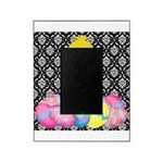 Easter Chick on Damask Picture Frame