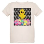 Easter Chick on Damask T-Shirt