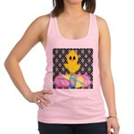 Easter Chick on Damask Racerback Tank Top