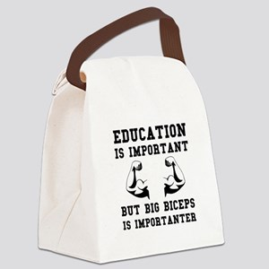 Biceps Important Canvas Lunch Bag