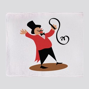 Circus Ringmaster Throw Blanket