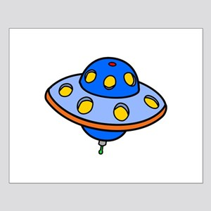 Cartoon UFO Flying Saucer Posters