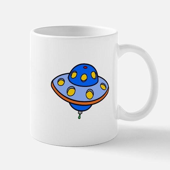 Cartoon UFO Flying Saucer Mugs