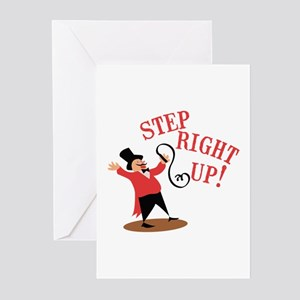 Step Ringmaster Greeting Cards