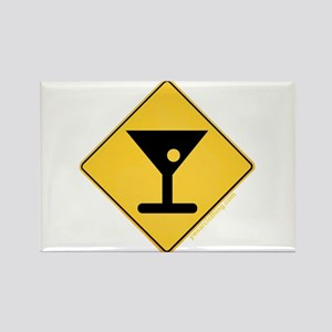 Crossing Zone Booze Rectangle Magnet