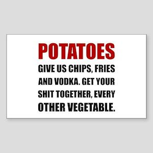 Potatoes Give Us Sticker