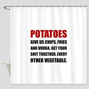 Potatoes Give Us Shower Curtain
