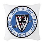USS HALSEY Woven Throw Pillow