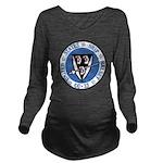 USS HALSEY Long Sleeve Maternity T-Shirt