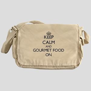 Keep Calm and Gourmet Food ON Messenger Bag