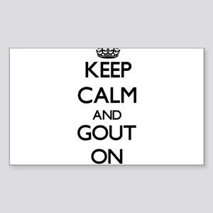 Keep Calm and Gout ON Sticker