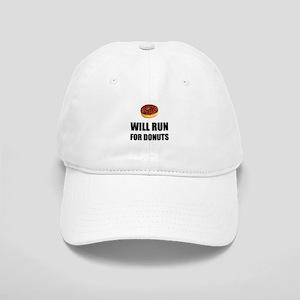 Will Run For Donuts Baseball Cap