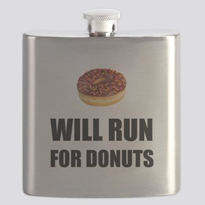 Will Run For Donuts Flask