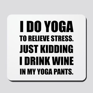 Yoga Pants Wine Mousepad
