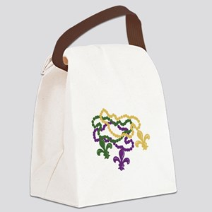Mardi Gras Beads Canvas Lunch Bag