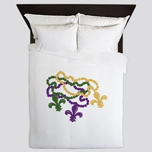 Mardi Gras Beads Queen Duvet