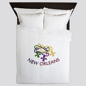 New Orleans Beads Queen Duvet