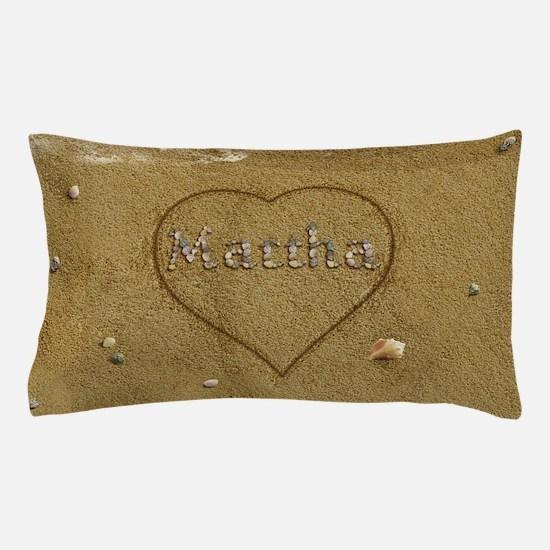 Martha Beach Love Pillow Case