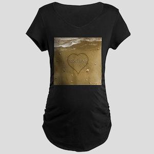 Marlene Beach Love Maternity Dark T-Shirt