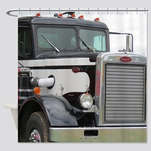 Old Peterbilt Shower Curtain
