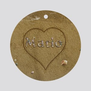 Mario Beach Love Ornament (Round)