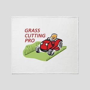 GRASS CUTTING PRO Throw Blanket