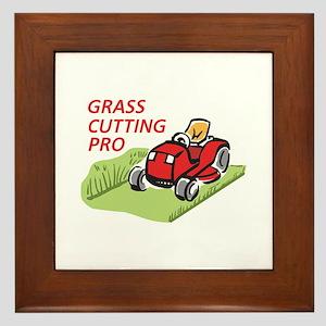 GRASS CUTTING PRO Framed Tile